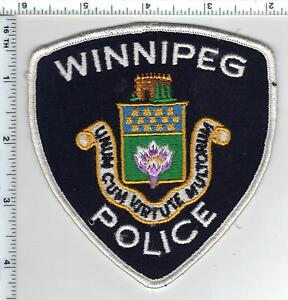 winnipeg police canada shoulder patch from the 1980s ebay