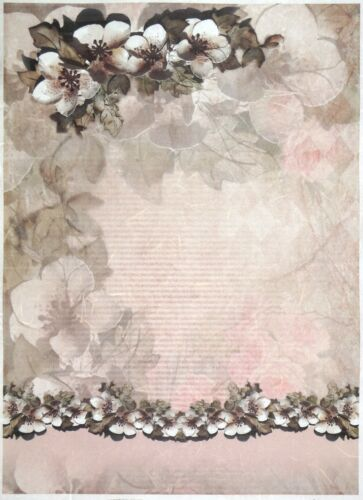 Rice paper A//3 Magnolia Decor for Decoupage Decopatch Scrapbook Craft Sheet