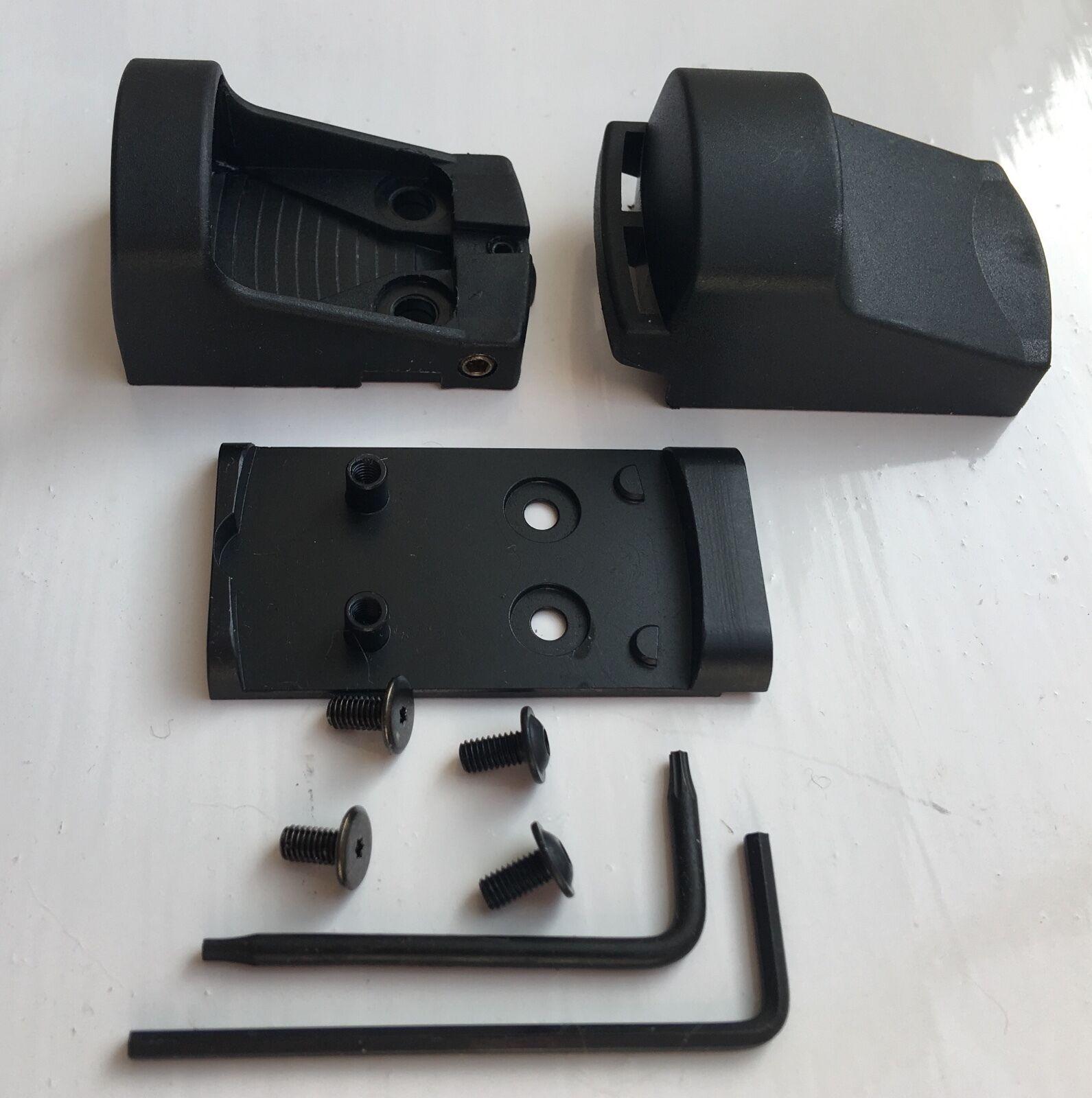 Anillo de SMS Escudo Mini Vista Punto Rojo 65MOA & Kit De Montaje Para Pistola Glock MOS diapositiva