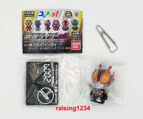 Full set 6 pcs Bandai ColleChara 03 Kamen Rider Figure Geiz Woz W Accel Den-O