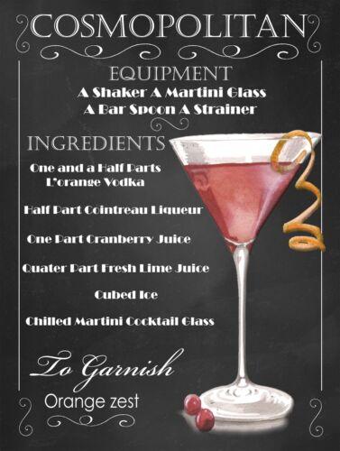 Cocktails Rétro Métal Signes//Plaques Man Cave Cool Cadeau de nouveauté bar//PUB 10
