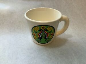 Vintage-Pennsylvania-Dutch-Double-Unicorn-Cup-Mug-USA-made