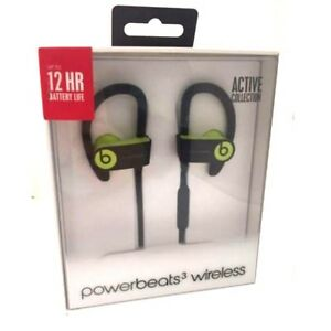 Beats By Dr. Dre Powerbeats 3 Shock Yellow Wireless In Ear Earbuds ... c61e7e4ba4
