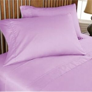 Bedding Items Deep Pkt Scala 1000 TC Egyptian Cotton king Lilac Stripe