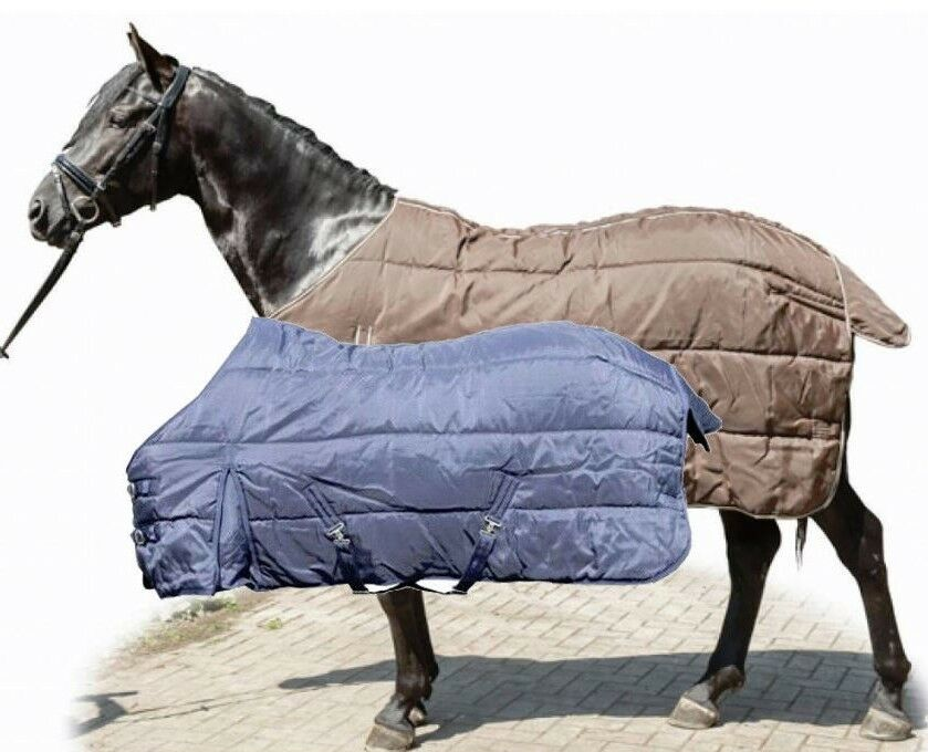 HKM 340g Heavyweight Strong 1200D Winter Stable Rug - Deep bluee or Brown