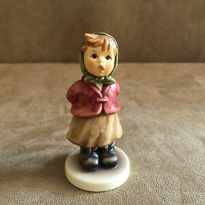 Clear-as-a-Bell-Hummel-Girl-Figurine-2181-Goebel-M-I-club-girl-singing