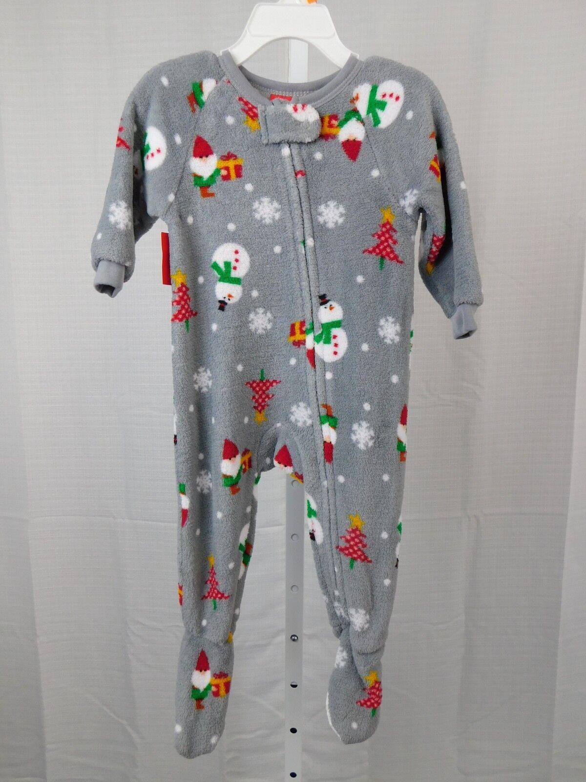 Family PJs Happy Gnomes Christmas Fleece Baby Footie Pajamas 12 ... 114aeb472