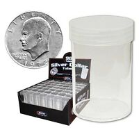 Dealer Wholesale Bcw Round Large Dollar Silver Coin Storage Tubes 38mm 98 Pack