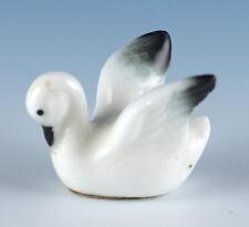 Vintage Bug House Miniature Bone China White Swan Figurine Glossy Made In Japan