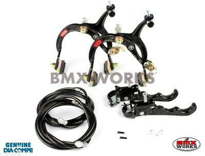 MX120 Red Brake Set Old Vintage School BMX Style Brakes Dia-Compe MX883