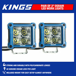 Kings-3-034-LED-Work-Light-Pair-Offroad-Adventure-SUV-4WD-Truck-Beam