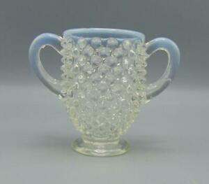 Fenton-Bud-Handled-Vase-French-Opalescent-Hobnail-Small-Miniature