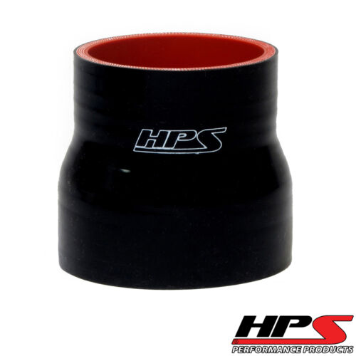 """HPS 7//8/"""" /> 1.5/"""" ID x 3/"""" Long Reinforced Silicone Reducer Coupler Hose Black"""