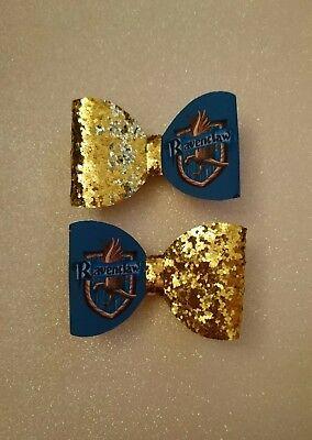 * Una * Harry Potter Hogwarts Casa Glitter Per Capelli Con Fiocco-corvonero-mostra Il Titolo Originale