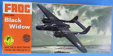 MODEL KIT '70s vtg BLACK WIDOW Northrup 1:72 Scale Frog F170 Gold Token