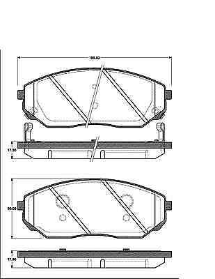 Année 2002-2009 JC garnitures avant KIA SORENTO 1 I Disques de frein 302 mm