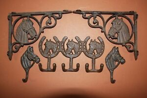 country star wall decor ebay.htm 5  western americana cast iron home decor  horse  shelf brackets  western americana cast iron home decor