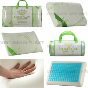 newest 7b8fb 9cfbd Details about All Bamboo Memory Foam Pillow, Anti-Bacterial Orthopedic Head  support
