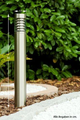 Außenlampe Außenleuchte Pollerleuchte Wegeleuchte Gartenleuchte Edelstahl NEU