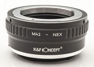 K-amp-F-Concept-M42-NEX-Lens-Mount-Adapter-Objektivadapter-M42-an-Sony-NEX
