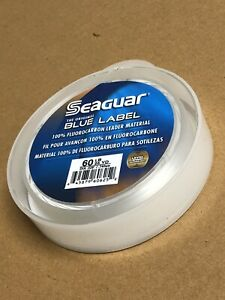 Test Seaguar Blue Label Fluorocarbon Leader Fishing Line 25 Yards Select Lb
