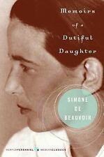 Memoirs of a Dutiful Daughter by Simone de Beauvoir (2005, Paperback)