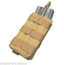 Condor MA18 Single 5.56 Open Top Mag pouch Tan- Tactical clip Molle