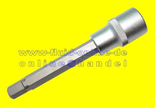 "Länge 110mm 6-Kant Bit Innensechskant HX9 M9 9mm Antrieb 12,5mm 1//2/"" NEU"