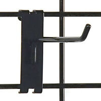 "Pack Of 100 Retails Black Gridwall Hook 6"" Long - 1/4"" Wire"