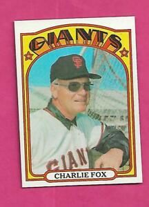 1972-TOPPS-129-GIANTS-CHARLIE-FOX-MANAGER-NRMT-MT-CARD-INV-A8547