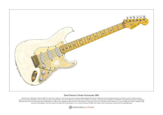 Thom Yorke/'s 1972 Telecaster Deluxe Limited Edition Fine Art Print A3 size