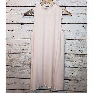 Everly-Sleeveless-Blouse-Tunic-Womens-Small-Light-Pink-Blush-Lined-High-Neck