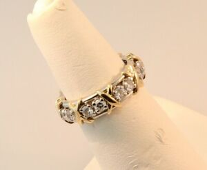 545a681e6ee1a Details about Tiffany & Co Schlumberger Sixteen Stone Diamond Ring  Platinum+Gold Sz 5.75