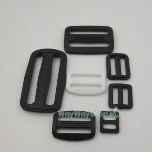 """Plastic Triglides Slides 4 Buckle Leather strap Belt Webbing 3//8/"""" 5//8/"""" 3//4/"""" 1/"""""""