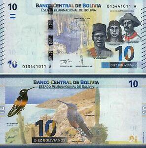 BOLIVIA-10-BOLIVIANOS-2018-P-248-NEW-UNC