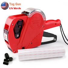 Mx 5500 8 Digits Eos Price Tag Gun Labeler Labeller With5000 Sticker Labels Ink