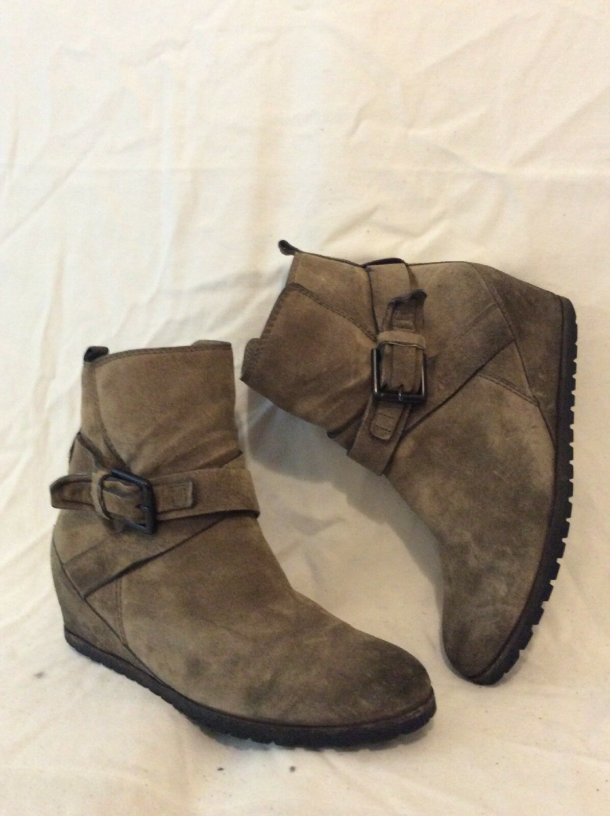 Kennel Schmenger Brown Ankle Suede Boots Size 5.5