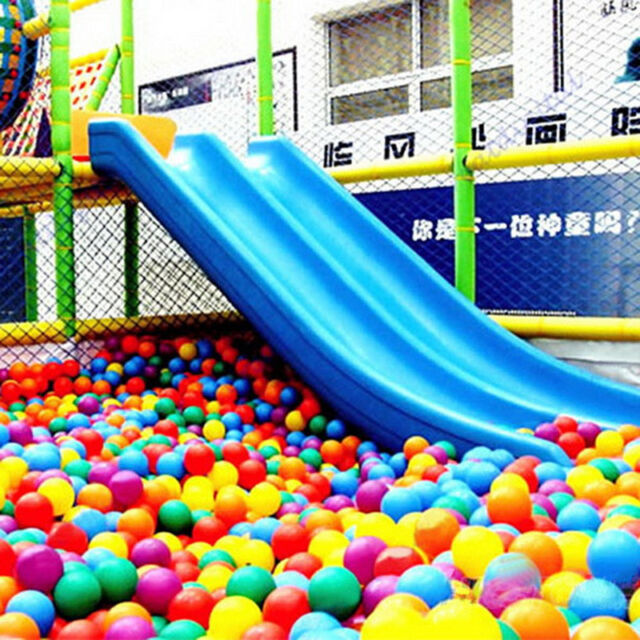 50PCS Swim Fun Colorful Soft Plastic Ocean Ball Secure Baby Kid Pit Toy ^D GF