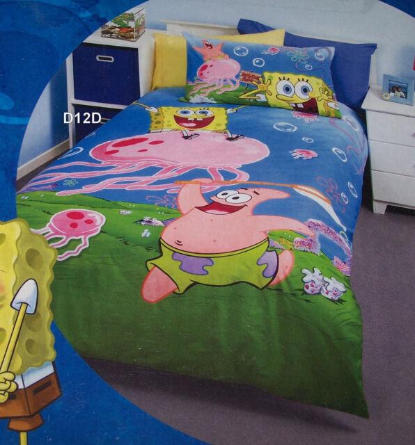 SpongeBob Squarepants Jellyfishing Single Bed Printed Quilt Cover Set New