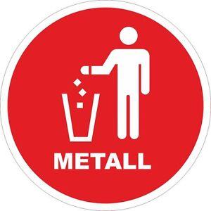 Details Zu Metall Blech Mülleimer Aufkleber Mülltonne Recycling Mülltrennung 200mm 10866