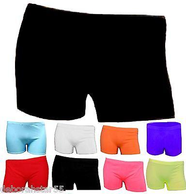 Crazy Chick per Bambina Colore Neon Stretch Pantaloncini da Palestra da Danza Tutu Pantaloncini Et/à 5-12 Anni