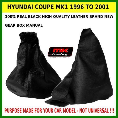 HYUNDAI COUPE GEAR /& HANDBRAKE GAITER LEATHER 1996-2001