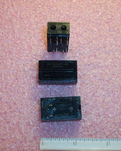 QTY (5) RTTC8702 SWITCHCRAFT TWIN PHONE JACKS 4.39mm NOS