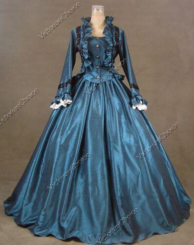 VictorianInspiredWomensClothing Civil War Victorian Old West Gown Period Dress Reenactment Halloween Costume 170 $138.57 AT vintagedancer.com