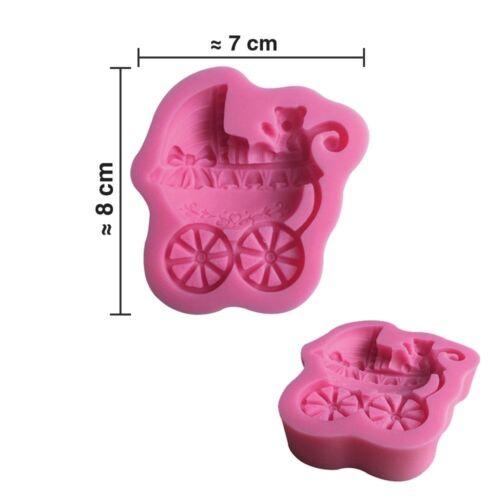 décoration cake design Moule silicone 3D Landau bébé pour pâte à sucre