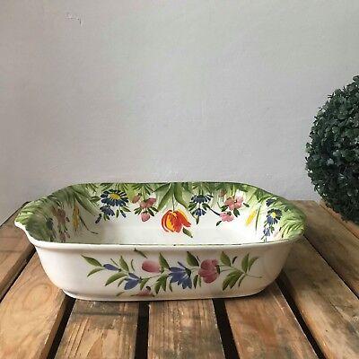 Responsabile Bassano Ceramica Sformato Forme Casseruola Motivo Fiori Dall'italia Nuovo Dipinto A Mano- Merci Di Alta Qualità