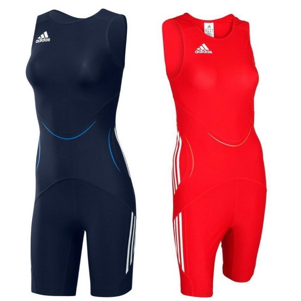 Adidas Womens  WR Class Wrestling Singlet Classic Red Navy Weightlifting Suit  lowest whole network