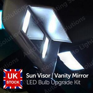Vauxhall insignia xenon white sun visor vanity mirror led light bulb la imagen se est cargando opel insignia xenon blanco espejo de vanidad visera aloadofball Choice Image