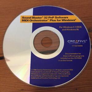 Details about 1996 Creative Sound Blaster 32 PnP MIDI Orchestrator Software  Windows 3 1/DOS 95