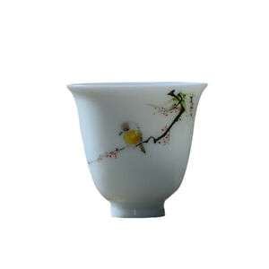 Chinese-jingdezhen-hand-painted-famille-rose-bird-and-flower-tea-cup